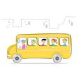 kids in school bus vector image vector image
