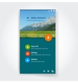 Modern user interface screen template for mobile vector image