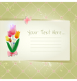 Tulip abstract old paper invitation vector image