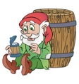 Old gnome vector image