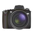 Professional SLR camera photocamera vector image