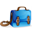 a blue bag vector image