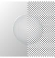 a transparent glass circle vector image