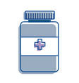 blue medical pharmaceutical drugs treatment icon vector image