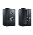 Metal bank safes vector image