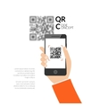 QR code scanning with mobile phone Capture QR vector image