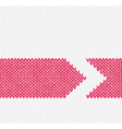 Red Arrow Knitted Pattern vector image