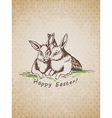 easter rabbit vector image vector image