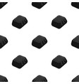 Chocolate candy icon in black style isolated on vector image
