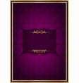 Purple celebrate card vector image