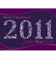 2011 greeting card vector image vector image