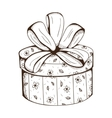 Present box with decorative bow vector image vector image