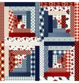 Square patchwork in country style vector image