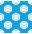 Target hexagon pattern vector image