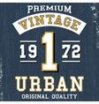 Vintage urban poster vector image