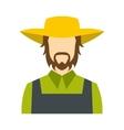 Farmer icon flat vector image