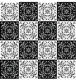 Hand drawing seamless pattern for tile in black vector image
