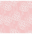 Seamless floral white lace pattern Repeating vector image