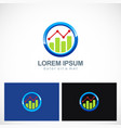 business finance progress round logo vector image