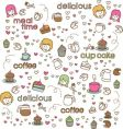 Cute doodle vector image