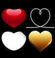 differences style red heart icon vector image