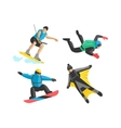 Extreme sport people silhouette vector image