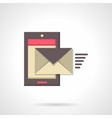 Sending message flat color icon vector image