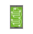 smartphone circuit electronic board vector image