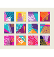 Summer set of colorful cards with happy designs vector image