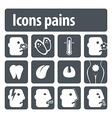 Icons pains vector image vector image