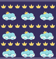 funny mother cloud with babies seamless vector image