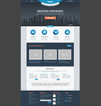 Flat Website Template vector image vector image