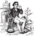 Man at Tobacco Shop vector image vector image