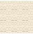 Mason jars linear icon set seamless texture vector image