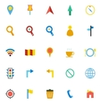 Map color icons on white background vector image