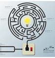 Maze Light Bulb Electric Wire Line Business vector image