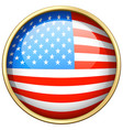 america flag design on round badge vector image