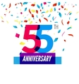 Anniversary design 55th icon anniversary vector image