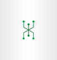 electronics circuits logo icon vector image