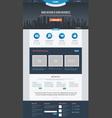 Flat Website Template vector image