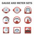 Gauge meter vector image