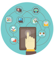 Social Networking by Tablet vector image