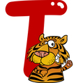 T for tiger vector image