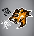Wild Squirrel head brown logo 2901 vector image vector image