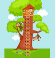 meter wall with tree house vector image