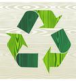 Wooden recycle arrows vector image