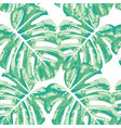 seamless pattern with monstera leaves vector image