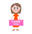 Thank You Woman vector image