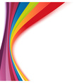 Bright rainbow swoosh lines stripes abstract vector image vector image