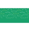 Line art mustaches horizontal seamless pattern vector image